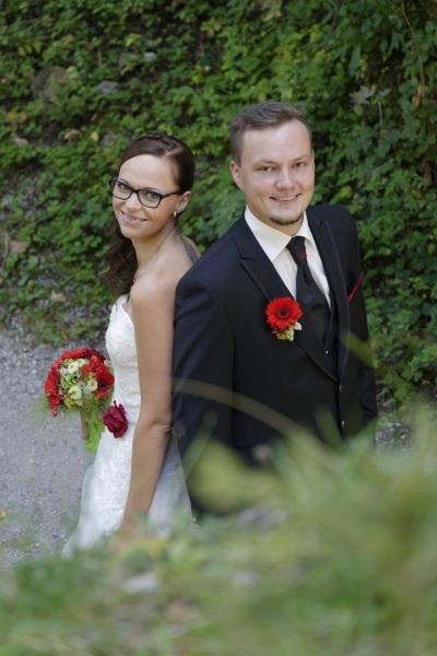 Hochzeitfoto: Porträt Brautpaar © Werner Blauhorn