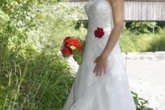 Hochzeitfoto: Braut in Brautkleid © Werner Blauhorn