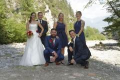 Hochzeitfoto mit Trauzeugen © Werner Blauhorn