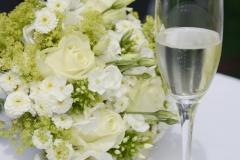 Hochzeitsfotos auf der Fraueninsel: Detail Brautstrauß © Werner Blauhorn