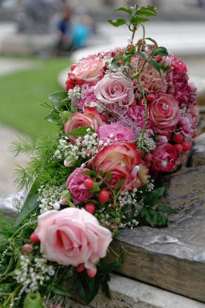 Hochzeitsfotos auf der Herreninsel: Detailaufnahme Brautstrauß © Werner Blauhorn
