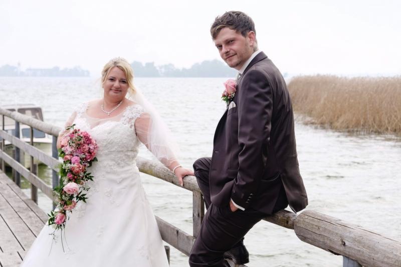 Hochzeitsfoto auf der Herreninsel am Steg © Werner Blauhorn