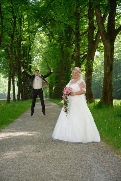Hochzeitsfoto auf der Herreninsel auf Baumallee © Werner Blauhorn